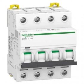 Circuit breaker-Schneider 4P 25A 6 KA C 4...