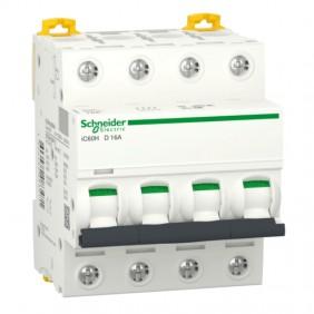 Circuit breaker-Schneider 4P 16A 10KA D 4...