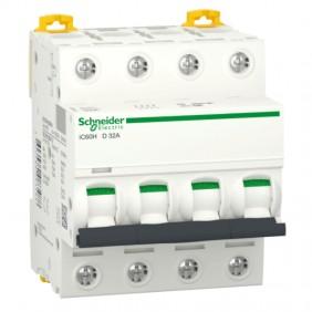 Circuit breaker-Schneider 4P 32A 10KA-D 4...
