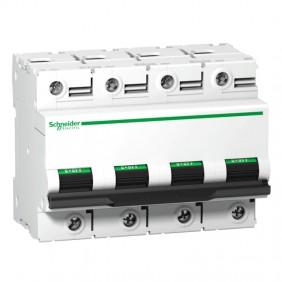 Circuit breaker 4P 100A 10KA C 6 modules A9N18374