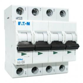 Breaker Eaton FAZ6 6A 4-Pin 6 C 4 Modules 239199