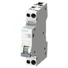 Circuit breaker Siemens 20A 1P+N 4.5 KA C curve...