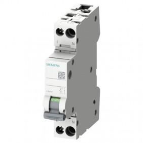Circuit breaker Siemens 10A 1P+N 6 KA C curve 1...
