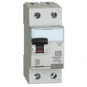 Bticino 1P+N 20A 30mA AC differential circuit...