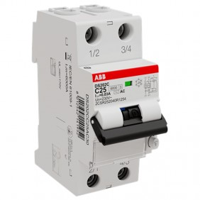 ABB 2 pole thermomagnetic circuit breaker 25A...