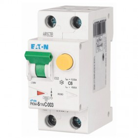 Eaton 6A 1P+N 30MA differential circuit breaker...
