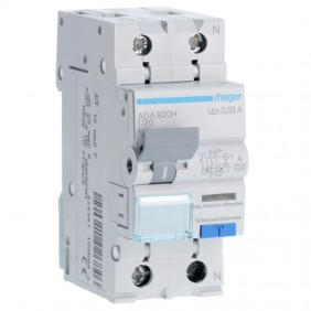 Earth leakage circuit breaker Hager 1P+N 30MA...