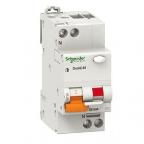 Schneider MCB 1P+N 10A 30MA 4,5KA DOMC45C1030C