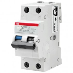 Abb DS201LH 6A C-curve 30mA AC differential...