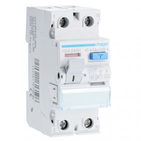 Hager pure residual current circuit breaker 2P...