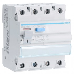 Hager residual current circuit breaker 4P 40A...