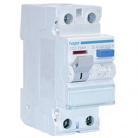 Hager residual current circuit breaker 2P 25A...
