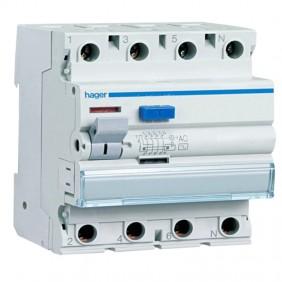 Disjoncteur différentiel 4P 40A 300MA AC 4...