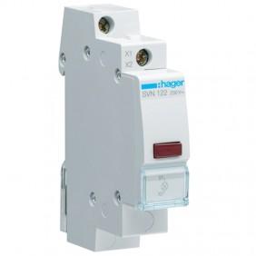Hager indicator unit DIN 1 module 230V red SVN122