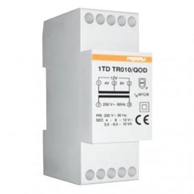 Perry transformer 10VA outputs 4-8-12V 2 DIN...