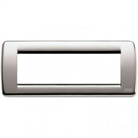 Plate Vimar Idea Rondo 6 Modules Brushed Nickel...