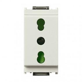 Vimar Idea 2X10/16A+E two-pin socket white 16203.