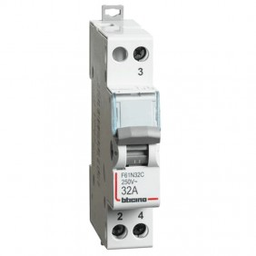 Bticino switch with central zero 1NO 32A F61N32C