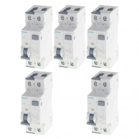 Siemens 32A 1P+N 30MA 4.5KA residual current...