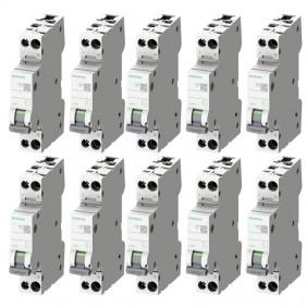 Circuit breaker kit Siemens 10A 1P+N 4,5KA...