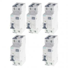 Siemens kit of 16A 1P+N 30MA 4.5KA...