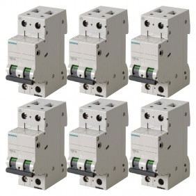 Siemens thermomagnetic kit 1P+N 2 modules 16A...