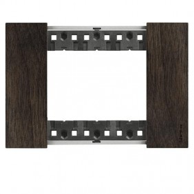 Bticino Living Now 3 Modules color walnut wood...