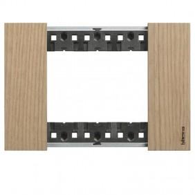 Placca Bticino Living Now 3 moduli colore legno...
