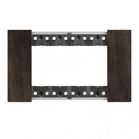 Bticino Living Now 4 Modules color walnut wood...