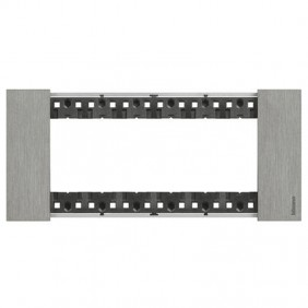 Bticino Living Now 6 Modules color Steel KA4806ZG