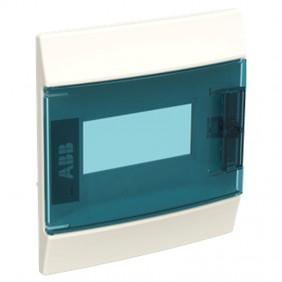 Frontalino ABB 6 moduli IP41 con porta blue...