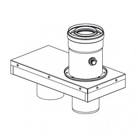 Rinnai flue outlet adapter diameter 80/80 to...