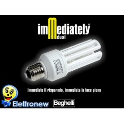 BEGHELLI LAMPADA RISPARMIO ENERGETICO IMMEDIATELY DUAL 25W E27 4000K