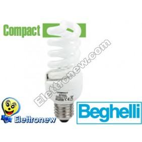 BEGHELLI LAMPADA RISPARMIO ENERGETICO SPIRALE 25W E27 2700K