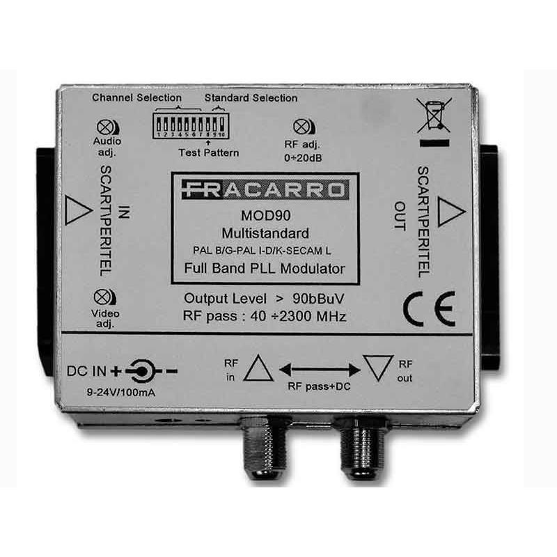 Minimodulatore Fracarro Analogico Mono DSB Fullband multistandard RCA