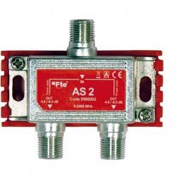Divisore TV FTE classe A terrestri e satellitari 2 uscite di 4 dB