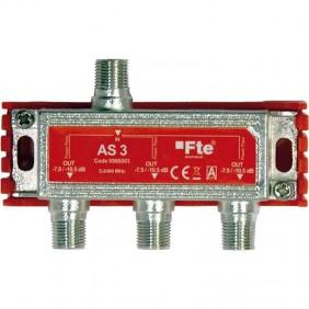 Divisor de TV FTE clase terrestres y de satélite 3 salidas de 6 dB