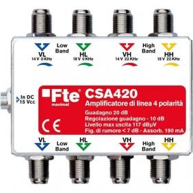 Amplificatore TV FTE di testa per multiswitch 950-2150 MHz 14-24db
