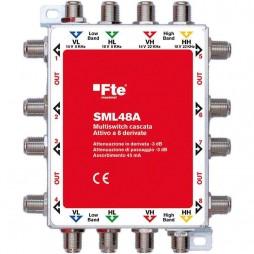Multiswitch FTE per satellitare 4 uscite passanti e 8 uscite derivate 3 dB