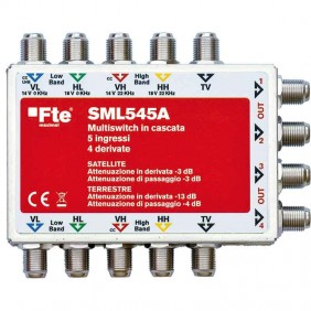 Multiswitch FTE cascaded four-input tv with...
