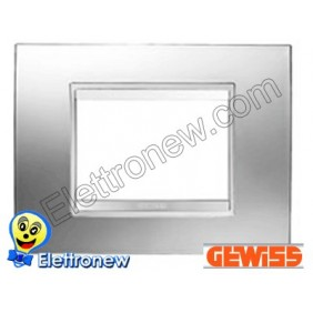 GEWISS CHORUS PLACCA LUX 3P GW16203MC