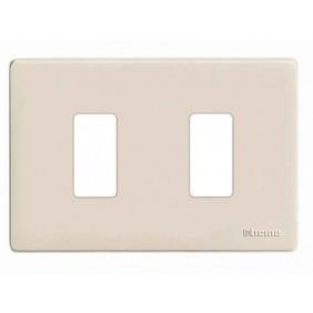 Placa de los Interruptores, Bticino Magic 2 plazas de Resina TIC503/2/R