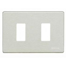 Placa de los Interruptores, Bticino Magic 2 lugares Oxidal TIC503/2/X
