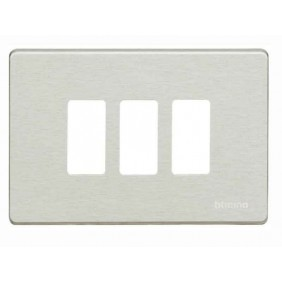 Plate for Bticino Magic 3 place switches oxidal...