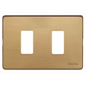 Placca per Interruttori Bticino Magic 2 posti Bronzo TIC503/2/BR