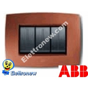 ABB ELOS PLACCA 3 MODULI ROSSO RAME 2CSE0321SMP