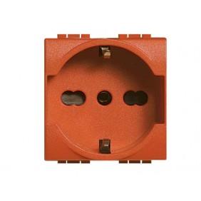 Presa Elettrica Bticino LivingLight universale 10/16A arancione L4140X16A