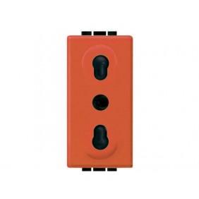Presa elettrica Bticino LivingLight bipasso 2P+T arancione L4180A