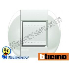 BTICINO LIVINGLIGHT PLACCA TONDA 2 MODULI LNB4802BI