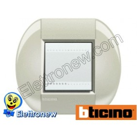 BTICINO LIVINGLIGHT PLACCA TONDA 2 MODULI LNB4802CL